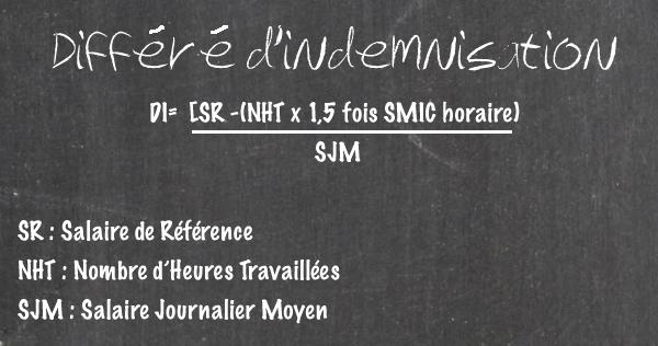 formule différé indemnisation 2014 intermittent
